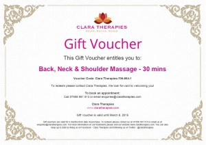 Clara Therapies Example Voucher